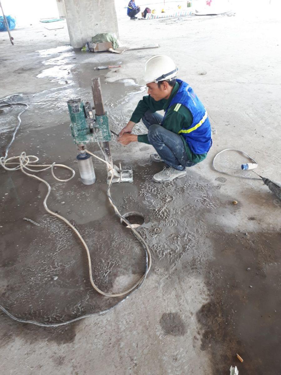 khoan rút lõi bê tông Bình Dương